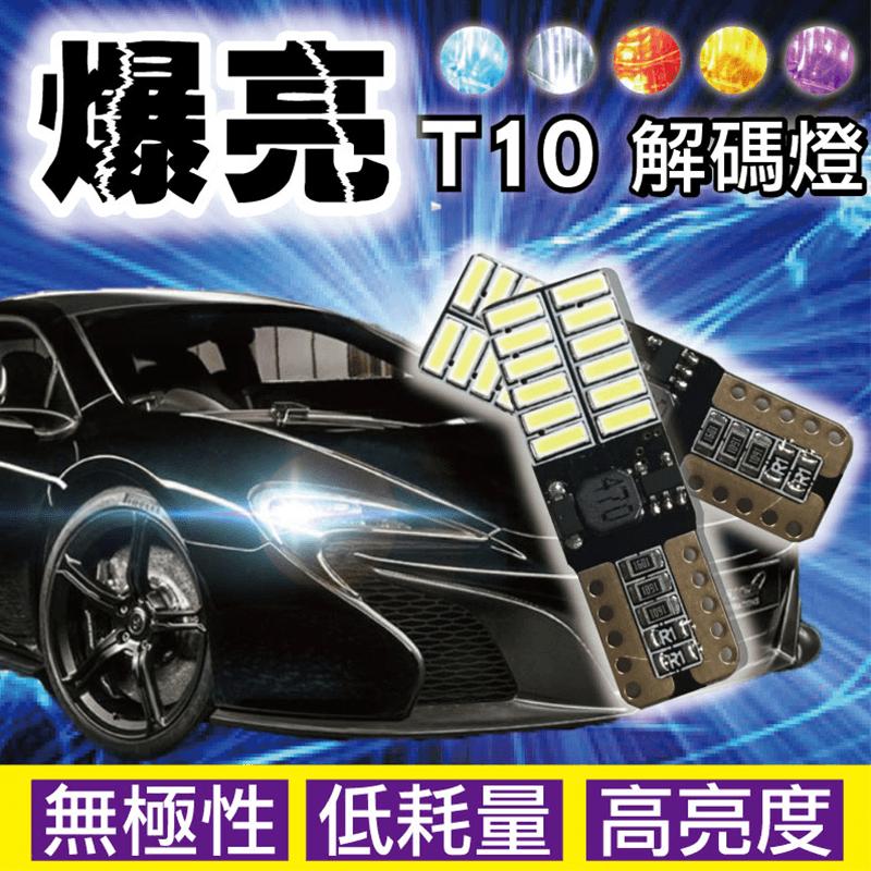 炫亮24LED車用T10解碼燈,限時破盤再打8折!