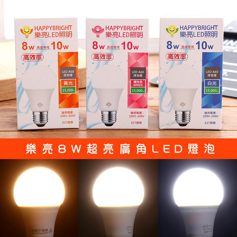 樂亮8W超亮廣角LED燈泡(F3000 / ULB08L3),今日結帳再打85折!