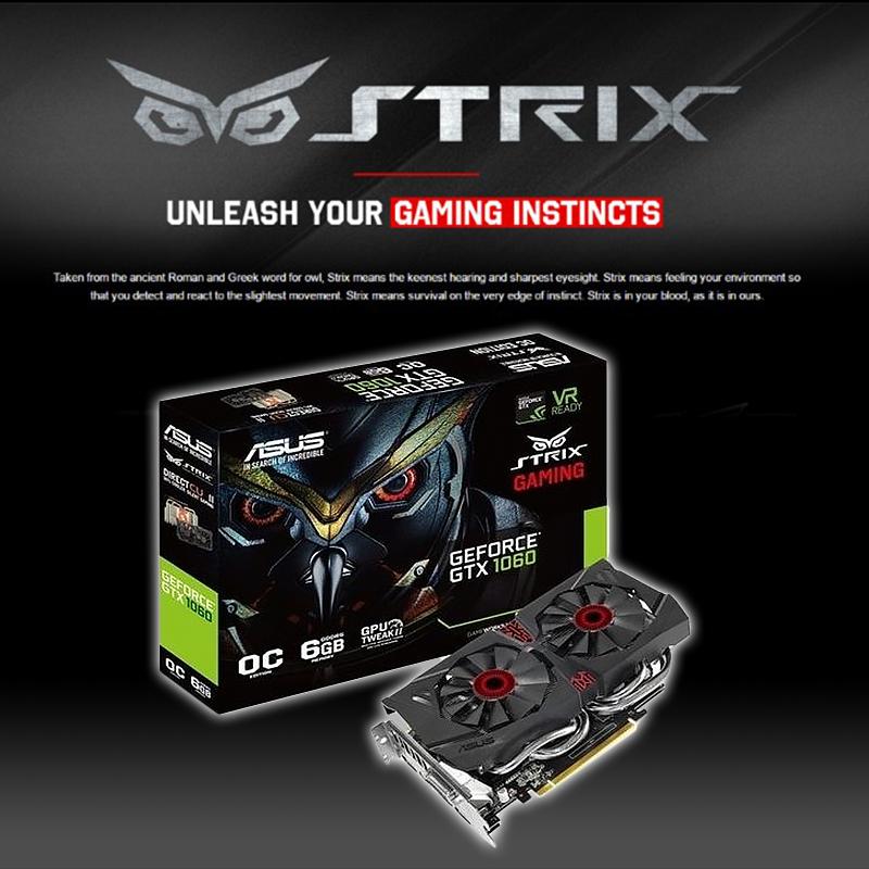 華碩STRIX顯示卡GTX1060,限時9.9折,請把握機會搶購!