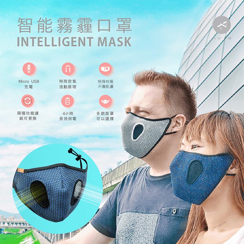 智能空氣清淨機抗霾口罩,今日結帳再打85折!