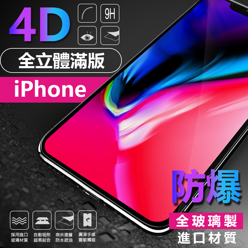 4D全玻璃iphone保護貼,今日結帳再打85折!