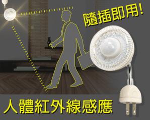 LED插頭式人體感應燈泡,限時3.1折,今日結帳再享加碼折扣