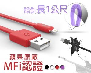 MFi高速2.4A充電傳輸線,限時5.0折,今日結帳再享加碼折扣