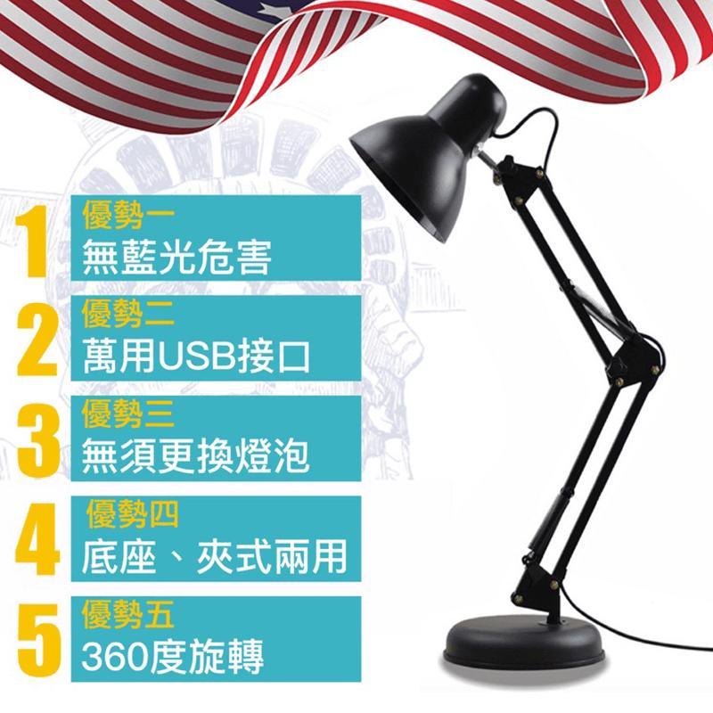工業LED省電護眼檯燈,限時破盤再打82折!