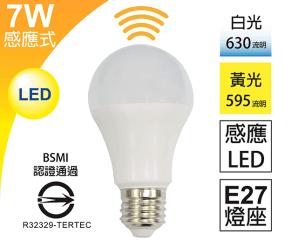 7W雷達微波LED感應燈泡,限時5.6折,今日結帳再享加碼折扣