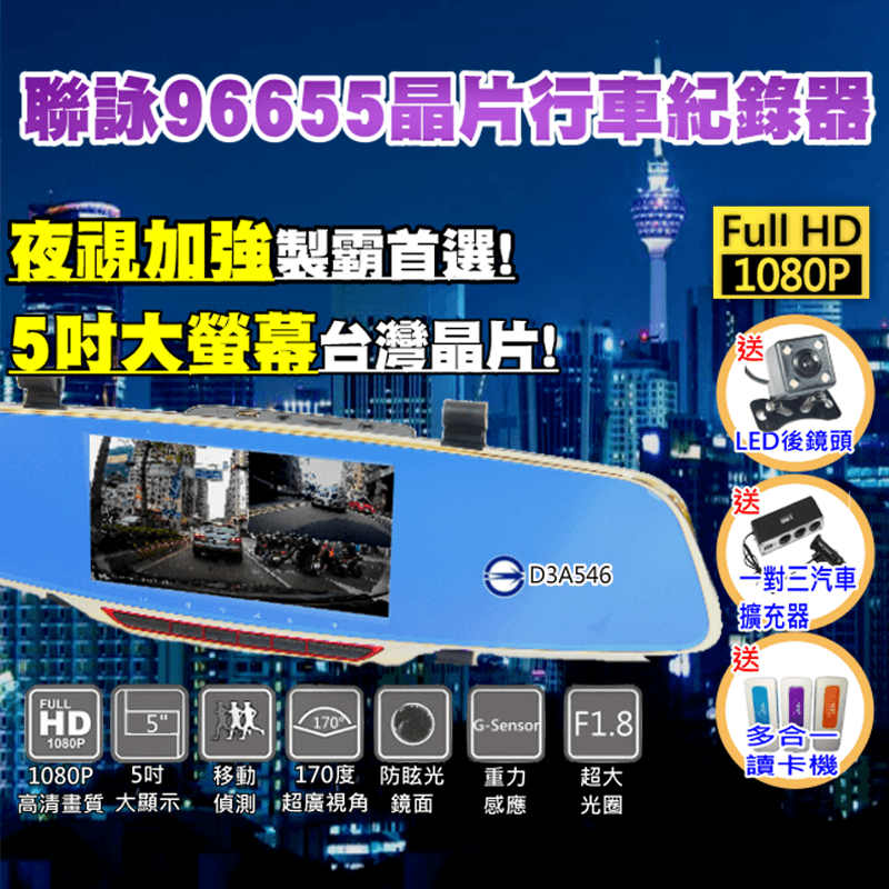 tela高畫質雙鏡頭行車紀錄器,限時破盤再打82折!