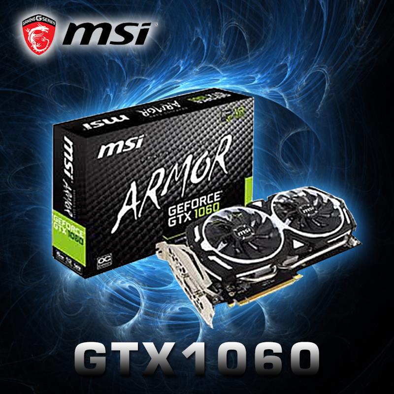 msi 微星GTX1060顯示卡(GTX1060 ARMOR 6G OCV10),限時9.9折,請把握機會搶購!