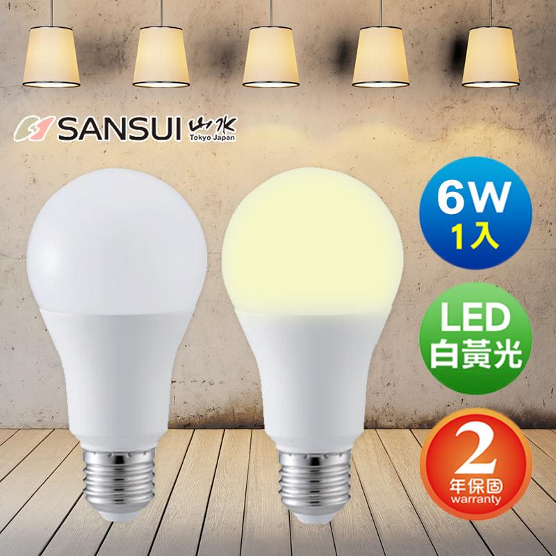 SANSUI 山水LED超廣角球燈泡MA2W04-6/MA2S04-6,今日結帳再打85折