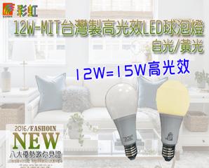 彩虹家族LED12W球泡燈,限時3.6折,今日結帳再享加碼折扣