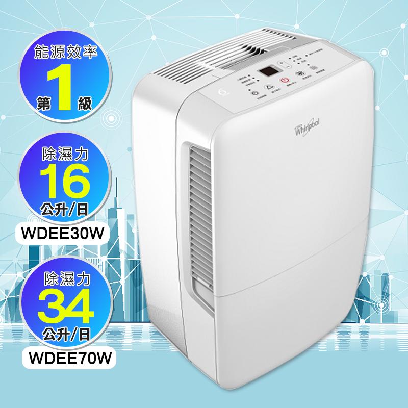 Whirlpool 惠而浦節能除濕機系列(WDEE30W/WDEE70W),本檔全網購最低價!
