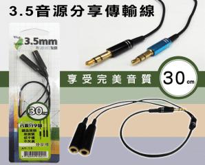 一對二耳機分享傳輸線,限時3.4折,今日結帳再享加碼折扣