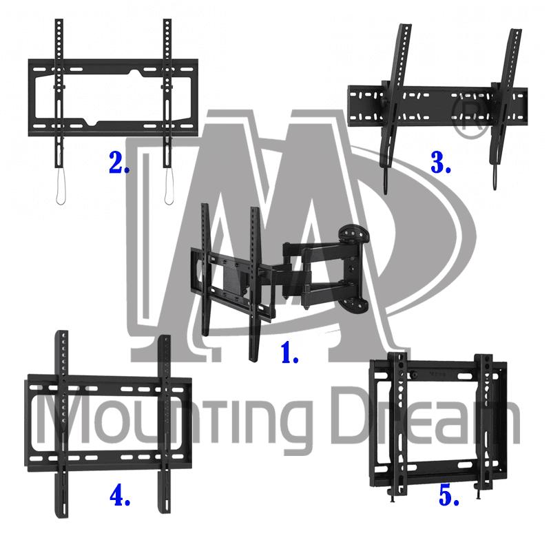 【Mounting Dream】電視壁掛架24吋~70吋固定式、可調式、懸壁式多,今日結帳再打85折!
