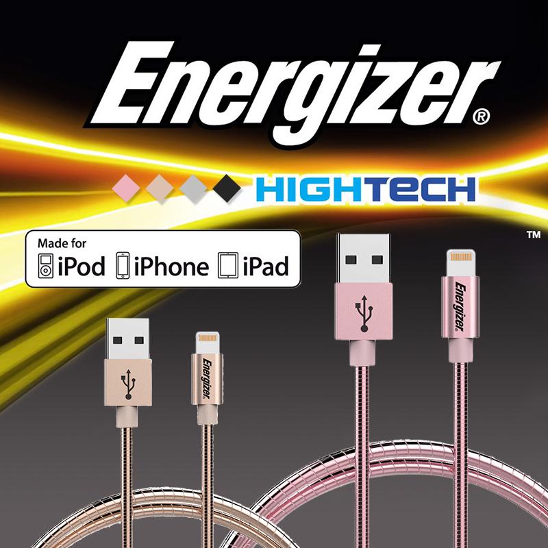 MFI勁量Energizer金屬充電傳輸線,限時破盤再打82折!