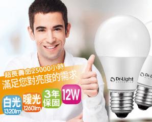 Dr.Light超廣角LED燈泡,限時3.3折,今日結帳再享加碼折扣