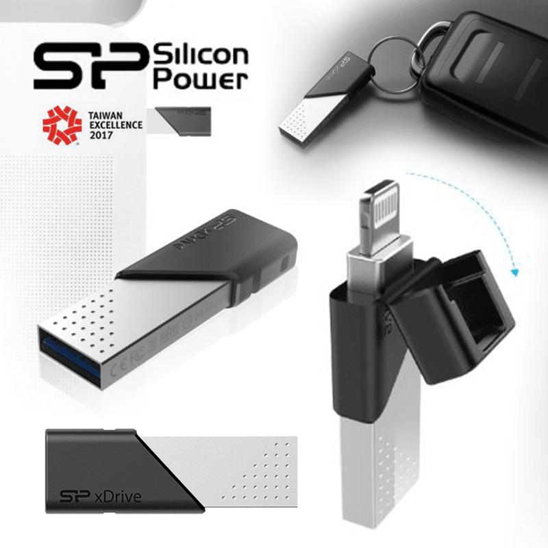 Silicon Power廣穎電通 高速合金OTG隨身碟Z50 64G/128G,限時9.9折,請把握機會搶購!