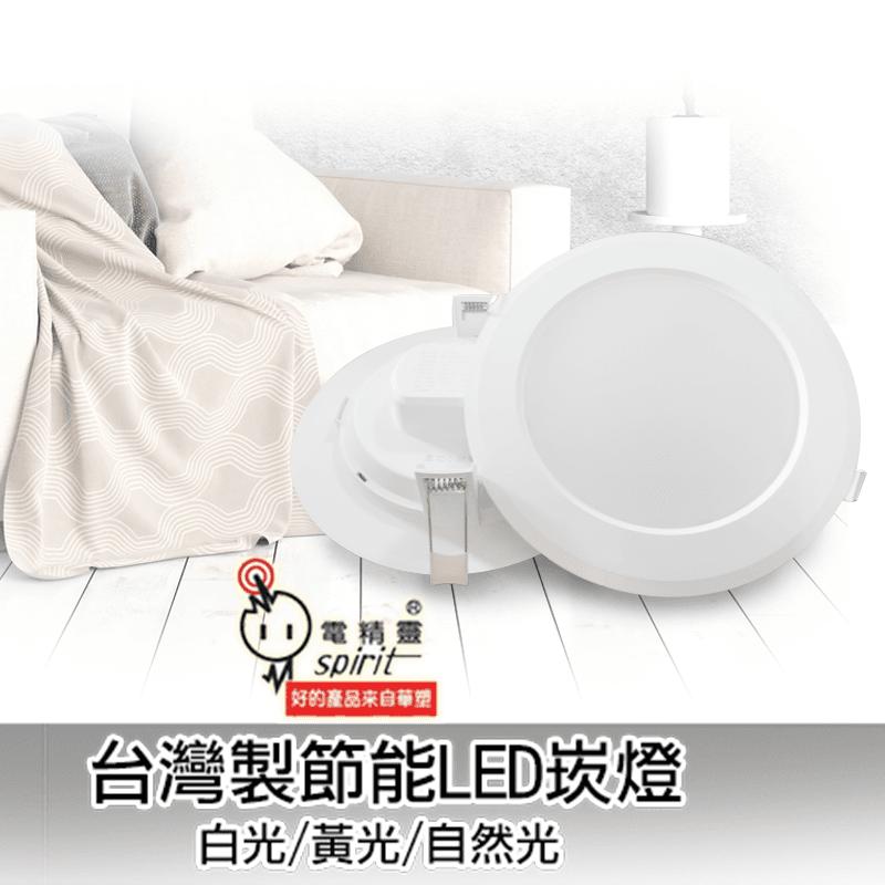 電精靈台灣製18W高亮度LED崁燈,限時破盤再打82折!