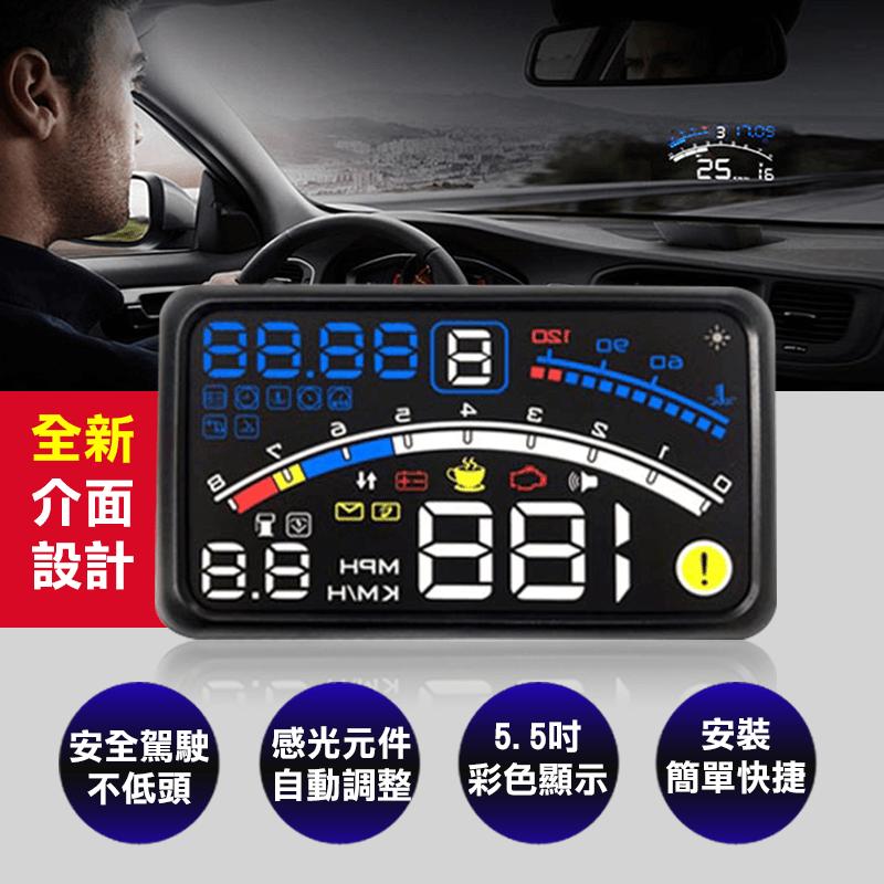 CARSCAM 行車王大螢幕測速抬頭顯示器,限時破盤再打82折!
